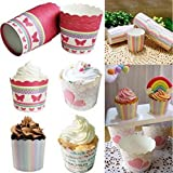 50pcs Mini Paper Baking Cup Liners Muffin Cupcake Cases Wrapper Home Party Decor by Micro Shops (03#: Letter)