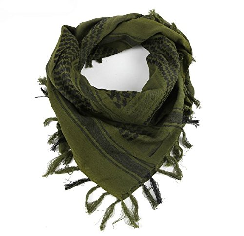 New Tactical Desert Shemagh Arab Keffiyeh Neck Scarf Green