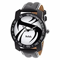 Relish-561 Stylish Black Case Analog Watches for Mens & Boys