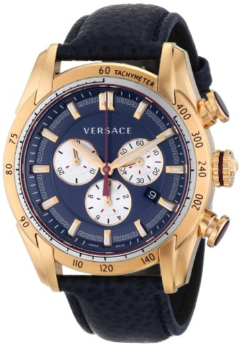 Versace-Mens-VDB030014-V-Ray-Rose-Gold-Tone-Watch-With-Blue-Leather-Strap