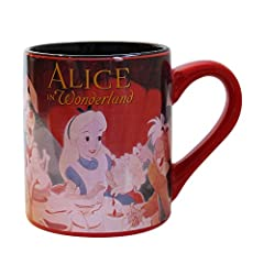 Disney Silver Buffalo AW2832 Disney Alice in Wonderland Ceramic Mugs, 14 oz, Multicolor