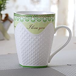 New Chinese Porcelain Water Cups High-grade Bone China Tea Mugs Creative Relief Design Coffee Cups B 301-400ml
