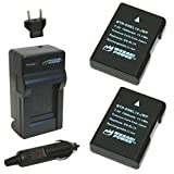 Wasabi Power Battery (2-Pack) and Charger for Nikon EN-EL14, EN-EL14a and Nikon P7000, P7100, P7700, P7800, D3100, D3200, D3300, D5100, D5200, D5300, Df