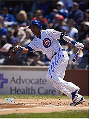 "Starlin Castro Chicago Cubs Autographed 8"" x 10"" Run Photograph - Fanatics Authentic Certified - Autographed MLB Photos"
