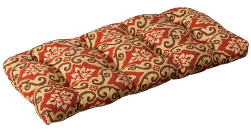 Buy Low Price CC Home Furnishings Outdoor Patio Furniture Wicker Loveseat Cushion – Vintage Tuscan (B004UM8QAK)