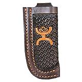 HOOey Western Knife Sheath Signature Leather Brown Orange 1460490KOR