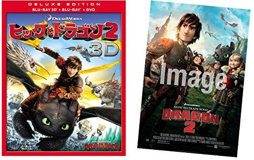 【Amazon.co.jp限定】ヒックとドラゴン2 3枚組3D・2Dブルーレイ&DVD(初回生産限定) US劇場ポスター(B2サイズ)付 [Blu-ray]