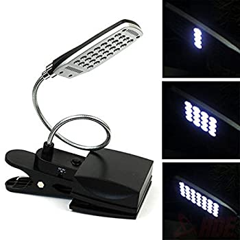 Farmunion 28 LED 3 Modes Clamp on Lazy Men Bed Table Desk USB Light Lamp for Reading Study from Farmunion