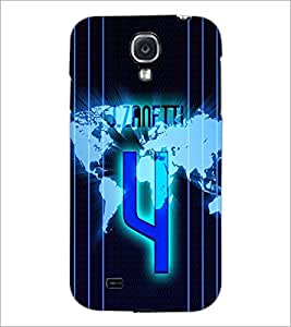PrintDhaba Number 4 D-3913 Back Case Cover for SAMSUNG GALAXY S4 (Multi-Coloured)