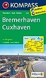 Bremerhaven - Cuxhaven: Wanderkarte mit Radtouren und Reitwegen. GPS-genau. 1:50000 (KOMPASS-Wanderkarten)