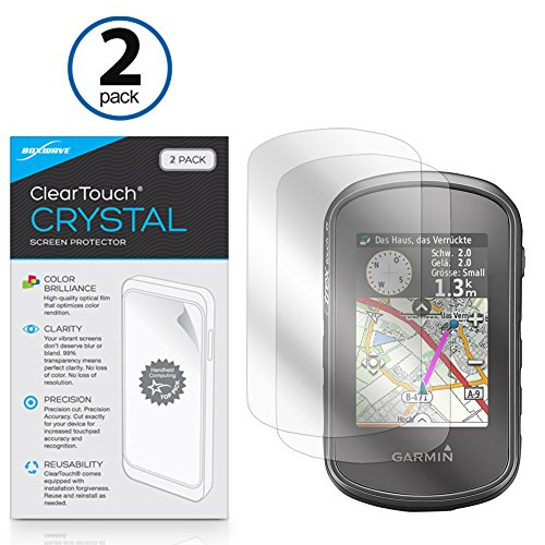 Garmin eTrex Touch 35t Screen Protector, BoxWave [ClearTouch Crystal (2-Pack)] HD Film Skin - Shields From Scratches for Garmin eTrex Touch 35t, Touch 35, Touch 25 (2 35 Screen compare prices)