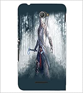 PrintDhaba Warrior D-2146 Back Case Cover for SONY XPERIA E4 (Multi-Coloured)
