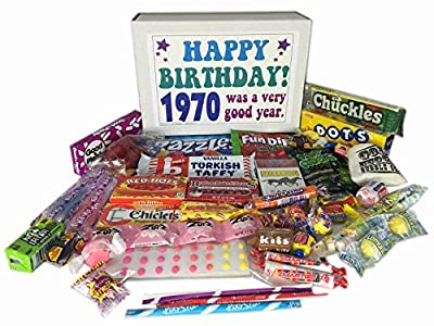 1970 Retro Nostalgic Candy 46th Birthday Gift Basket Box Jr. Born '70s