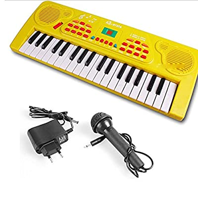 E Support 37 Keys Kid Music Electronic Piano Record charger Organ Keyboard Mic & Adaptor for Kids