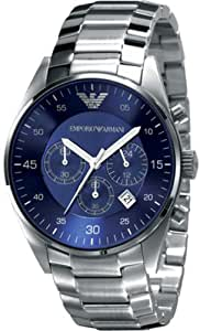 Emporio Armani Blue Dial Chronograph Mens Watch AR5860