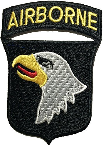 101st AIRBORNE Divisions Screaming Eagle Sew Iron on Embroidered Applique Badge Sign Costume Paratrooper Shoulder Patch - Black By Ranger Return (RR-IRON-AIRB-DIVI-EAGL-BLCK) (Military Ranger Patch compare prices)