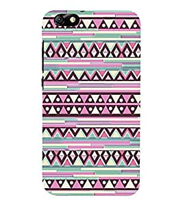 Abstract Diamond Pattern 3D Hard Polycarbonate Designer Back Case Cover for Huawei Honor 4X :: Huawei Glory Play 4X