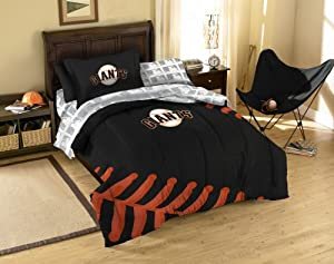 MLB San Francisco Giants Twin Comforter, Sheets and Sham (5 Piece Bed in a Bag) by MLB