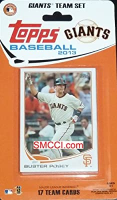 2013 Topps San Francisco Giants Factory Sealed Special Edition 17 Card Team Set