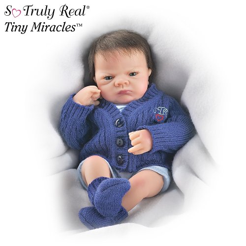 Tiny Miracles Open Eye Charlie Miniature Realistic Baby Boy Doll by Ashton Drake