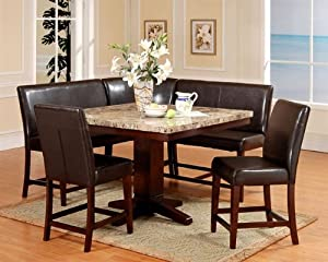 Amazon Com Roundhill Furniture 6 Piece Counter Height