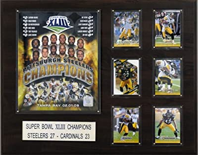 NFL Pittsburgh Steelers Super Bowl XLIII Champions Plaque