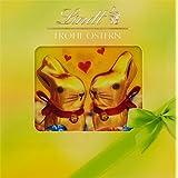 Lindt & Sprüngli Froh Ostern Mix mit Goldhasen-Karte, 2er Pack (2 x 90 g)