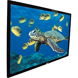 Elite Screens ezFrame Series, 100-inch 16:9, Rear Projection Fixed Frame Home Theater Projection Screen, Model: R100RH1