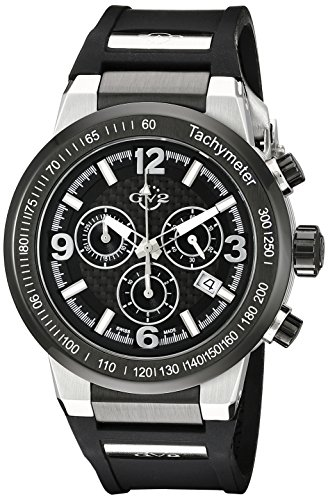 GV2 by Gevril Men's 8203 Novara Stainless Steel Multifunction Watch