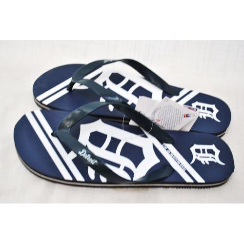 0ab2bc9908c5d8 Detroit Tigers MLB Unisex Flip Flop Beach Shoes Sandals slippers size Small