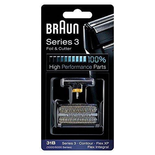 Braun 5000/6000FC- XP 31B Flex Integral Foil/Cutterblock Replacement Pack, Black (Braun 4005 compare prices)
