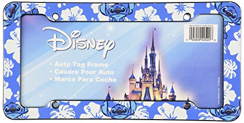 Chroma 42520 Blue Stitch Hibiscus Plastic Frame (Hibiscus License Plate Frame compare prices)