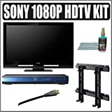 Sony Bravia S-Series KDL-52S4100 52-Inch 1080p LCD HDTV + Sony Blu-Ray Player Accessory Kit