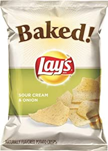 Baked Lay's Sour Cream and Onion Potato Chips, 9 Ounce (Pack of 3)
