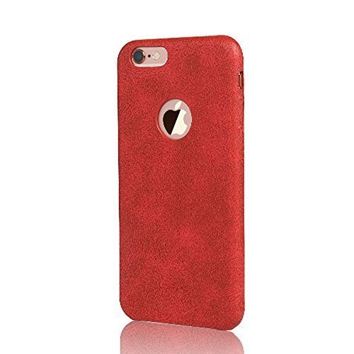 AEMA (TM) USAMS BOB Series for Apple iPhone 6/6S RED Soft PU Leather Back Case Cover
