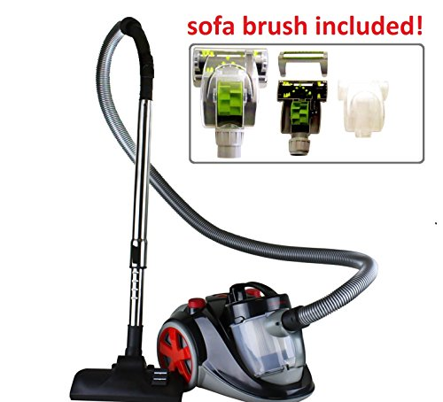 Purchase Ovente ST2010 Featherlite Cyclonic Bagless Canister Vacuum with Hepa Filter and Sofa Brush
