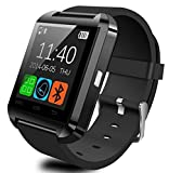 EFOSHM® BLACK SMART WATCH Wireless V8 Bluetooth Smartwatch for iPhone Sumsung Android (Black)