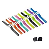 10PCS Colorful Replacement Accessory Wrist Bands with Black Metal Clasps for Garmin Vivofit No Tracker Replacement Bands Only Small