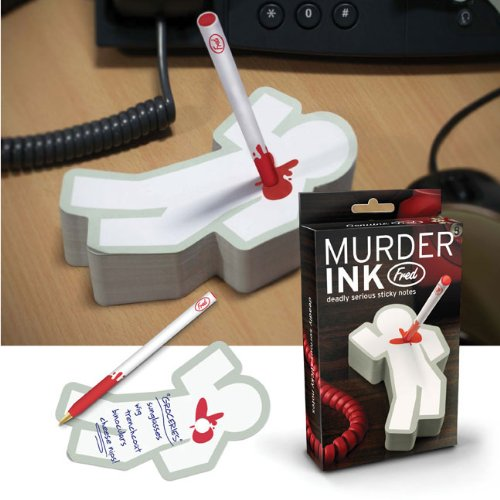 Murder Ink Sticky Notepad & Pen