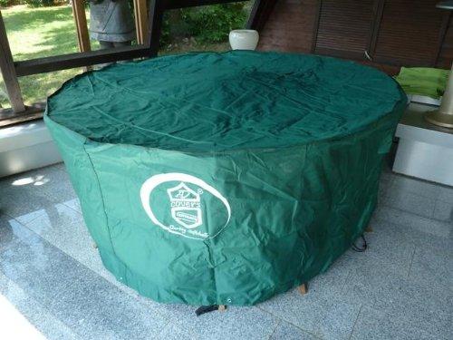 Schutzhülle für runden / 8-eckigen Gartentisch mit Stühlen 250x90