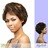 LFH-DAHLIA (Motown Tress) - Synthetic Lace Front Handmade Wig in DARK BROWN