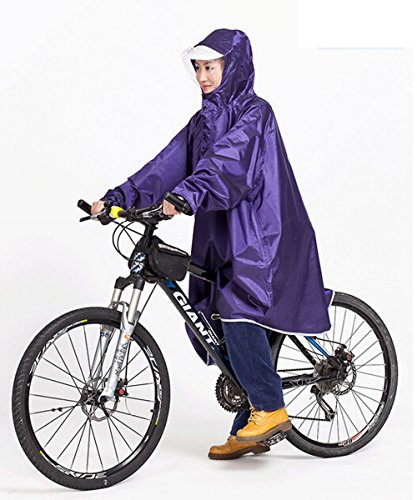 Bike Bicycle Cycling Cycle Waterproof Rain Coat Raincoat Cape Poncho 5 Colors Purple front-504345