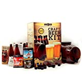 Mr. Beer Premium Gold Edition 2 Gallon Homebrewing Craft Beer Making Kit with Two Beer Refills, Convenient 2 Gallon Fermenter, Bottles, Caps, Carbonation Drops, Sanitizer and Brewing Instructions