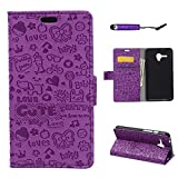 Alcatel OneTouch Fierce XL case, Moonmini® Ultra slim PU Leather Flip Stand Case Cover Wallet Card Holders for...