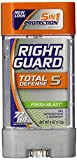 Right Guard Total Defense Power Gel Anti-Perspirant Deodorant, Fresh Blast, 4-Ounce Tube (Pack of 6)