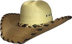 BULL-SKULL HATS, PALM LEAF COWBOY HAT, CLASSIC 203
