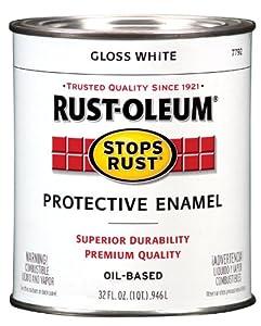 Rust-Oleum 7792504 Protective Enamel Paint Stops Rust, 32-Ounce, White