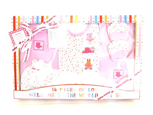 New 14 Pcs Baby Gift Set Dulce Baby Welcome To The World Gift Set Pink - 010 Uno