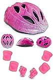 (YRINA)子供用 軽量 ヘルメット 幼児 子ども キッズ 用 三輪車 45~55cm 調整可能 キッズプロテクター セット 安全 サイクリングヘルメット (ピンクドリーム(Sサイズ))