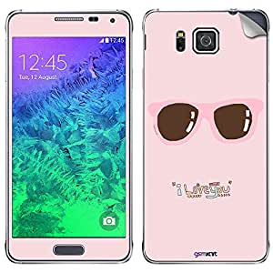 GsmKart SGA Mobile Skin for Samsung Galaxy Alpha (Pink, Galaxy Alpha-664)
